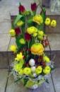 Оформление витрин, магазинов цветами