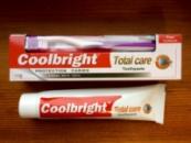 Coolbright Total Care отбеливающая 175 гр + зубная щетка