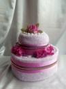 Торт из полотенец двухярусный №3