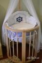 Овальная кроватка 7в1 Ovalbed Natural+УКАЧИВАНИЕ