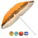 Зонт пляжный d1,8м серебро с наклоном 0035