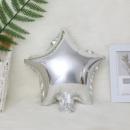 Фольгированный шар звезда серебро 18'' 45 см
