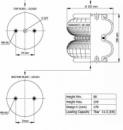 Пневморессора, бублик двойной в сборе (пр-во Airtech) D 180 113052,196028,W01-M58-6378,T26 84181