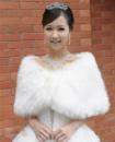 Меховая накидка и украшения для невесты