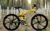 Элитный Велосипед LAND ROVER Yellow на литых дисках