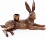 Подсвечник декоративный «Королевский медный Заяц» 26.5х13х15.5см