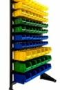 Стеллаж с ящиками и траверсами для метизов 1,5 м + 81 ящика