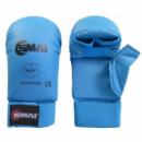 Перчатки для карате SMAI с защитой большого пальца. Цвет синий. Одобрено WKF