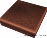 Ступень рельефная угловая структурная CLOUD ROSA Duro 30x30