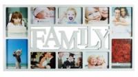 Мультирамка Family на 10 фото белая