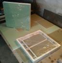 Потайные люки невидимки под плитку нажимные