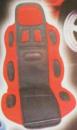 Накидка на сидение 19002 RD/BK высокая красн.+черн.