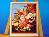 Картина на холсте по номерам Букет