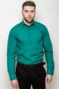 Рубашка приталенная AG-0000099 Изумрудный