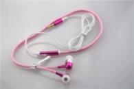 Светящиеся Наушники на молнии Zipper Earphones(с микрофоном) розовый