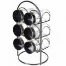 Набор для специй 6 предметов с подставкой A-plus 1710 (gr007150)