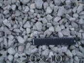 Щебень гранитный фр.20х40 мм.