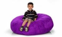 Фиолетовый кресло-мешок из велюра