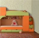 Кровать с лесницой Винни 1