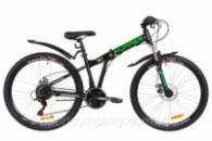Велосипед 26« Formula HUMMER AM 14G DD St с крылом Pl 2019 (черно-салатный (м))