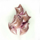 звездочки из фольги с гелием (розовое золото)
