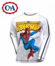 Реглан (футболка длинный рукав) «Spider-man» (Человек-Паук) белый хлопок, бренд «C&A» (Германия)