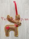 Новогодняя игрушка из фетра Олень