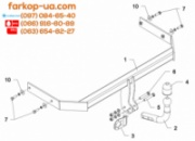 Тягово-сцепное устройство (фаркоп) Volkswagen Polo (6R) (hatchback) (2009-2017)