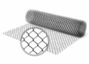 Сетка рабица оцинкованная высота 1,2м d1,6мм ячейка 35х35мм