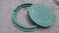 Люк полимерпесчаный в зеленом цвете нагрузка до 0,8 т. с доставкой в Запорожье