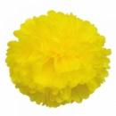 Помпон из тишью 30 см желтый