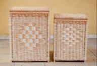 Корзины для белья плетеные из лозы