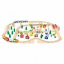 Игрушка Viga Toys «Железная дорога» (90 деталей) (50998)