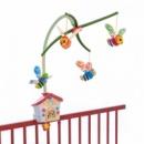 Механический мобиль на детскую кроватку Chicco Пчелиный домик разноцветный