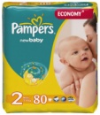 Pampers Active Baby 2 (3-6 кг) 80 шт