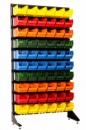 Торговый или складской стеллаж + лотки и ящики