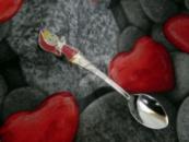 Детская сувенирная ложка Маша. Серебро + эмаль.