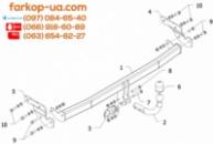 Тягово-сцепное устройство (фаркоп) Hyundai i10 (2008-2013)