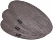 Набор 4 сервировочных коврика Fissman Cyprian-675 овал 45х30см, пвх