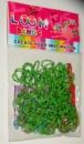 Зеленые в точку резинки для плетения Rainbow loom