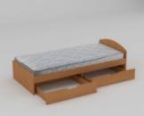 Детская кровать 90 + 2 (односпальная)