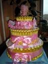 Торт из подгузников « Розово-золотой»