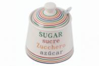 Сахарница с ложкой керамическая Maestro - 90 мм «For You» MR-20031-09