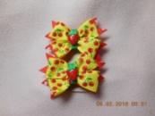 Резиночки для малышек из репсовых лент «Вишеньки»