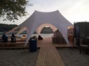 Шатер напрокат «Звезда 2» 13х10м. Шатер Белый. Большой шатер на прокат по Украине от 3х дней.