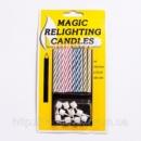 Магические негаснущие, незадуваемые свечи для торта 10 шт