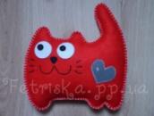 Мягкая игрушка - подушка из фетра Котик
