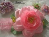 повязка для малышки розовая
