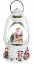 Декоративный фонарь «Санта с подарками» с водяным шаром и LED-подсветкой 22.5см, музыкальный