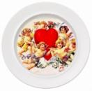 Тарелка керамическая белая, площадь запечатки d 130 мм размер тарелки d 254, PR1000
